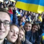 Черновчане побывали на футбольном матче Украина — Беларусь