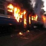 На Волыни горел поезд